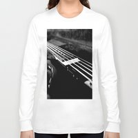 bass Long Sleeve T-shirts featuring Bass  by Lia Bedell