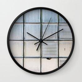 Glass Block Window Wall Clock