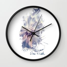 Dandelion Blue Graphic - Vertical Wall Clock