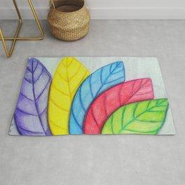 Rainbow leaves Rug