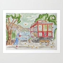 San Francisco Trolley Art Print