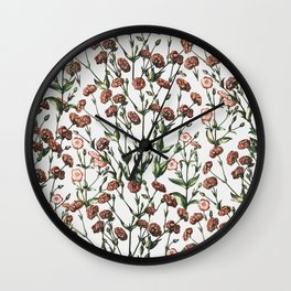 flowers invasion Wall Clock