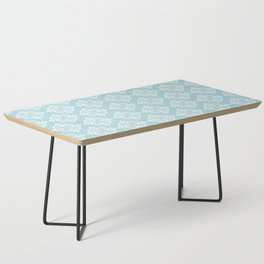 Decorative Pattern in White and Blue Coffee Table