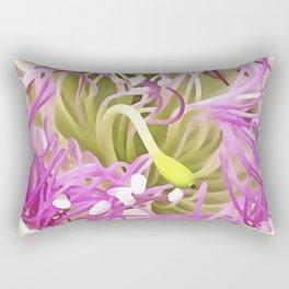 Caper Flower Blossom Rectangular Pillow
