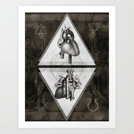 Alchemy Of heart Art Print
