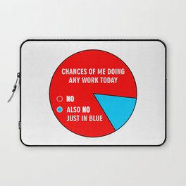 Chances Of Me Doing Any Work Today - Pie Chart Laptop Sleeve