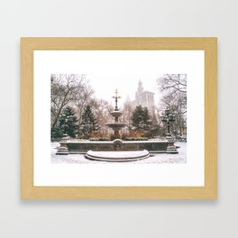 Winter in New York City Framed Art Print