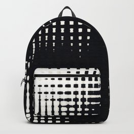 Black and White Halftone Grid Pattern Backpack