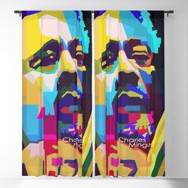 Charles Mingus Pop Art WPAP Blackout Curtain