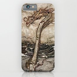 """Sea Serpent"" by Arthur Rackham iPhone Case"