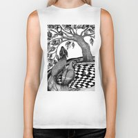 jazzberry Biker Tanks featuring The Golden Apples (1) by Judith Clay