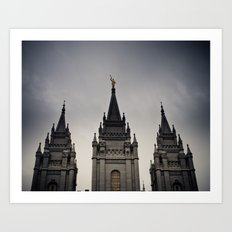 Temple Top Art Print