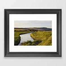 Cuckmere river Framed Art Print
