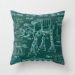 Schemes of a futuristic war machine Throw Pillow