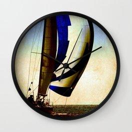 sailboat sailing at the race Wall Clock