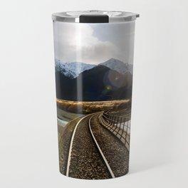 Railway over Waimakariri River Travel Mug