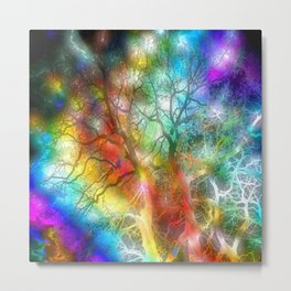 Psychedelic Storm Metal Print