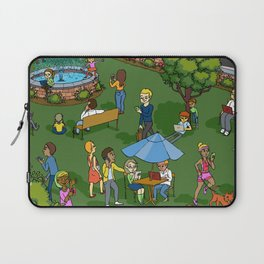 A Digital Day at the Fountain Laptop Sleeve