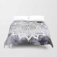 BOHO WHITE NIGHTS MANDALA Duvet Cover