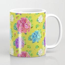 Hydrangeas on Green Gold Coffee Mug