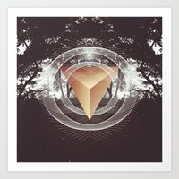 Somewhere in the darkness Art Print
