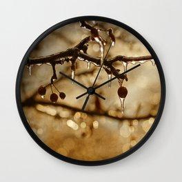 December Ice Wall Clock