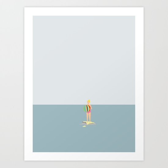 OCEAN SVØMMERE  No.03 (Girl) Art Print