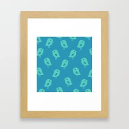 Little Birds (blue) Framed Art Print