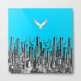 Peace of the Action BLUE / Peace concept Metal Print