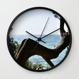 Tree Over Water Wall Clock