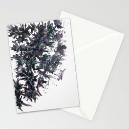 Midnight Trees Abstract Painting Stationery Cards
