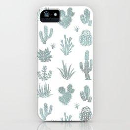 Cactus Pattern Blue/Grays iPhone Case
