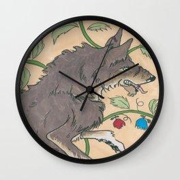 Spiel Mit Mir: Alphawolf Wall Clock