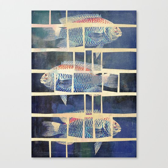 Fish Under Strong Radiation 5 Canvas Print