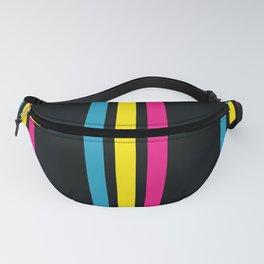 Stripes on Black Fanny Pack