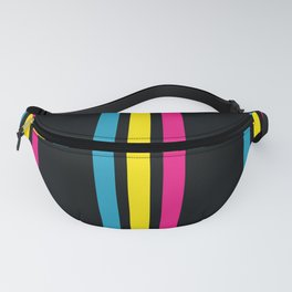 Stripes on Black Fanny Pack