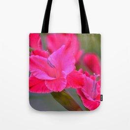 Pretty Pink Gladiolas Tote Bag