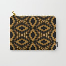 Tribal Diamonds Pattern Brown Colors Abstract Design Carry-All Pouch