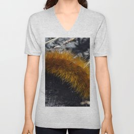 Orange Caterpillar Unisex V-Neck