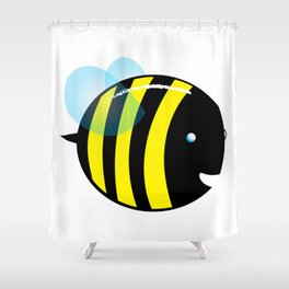 easy as a bee see.  Shower Curtain