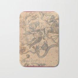 Constellation Chart 1856 Bath Mat