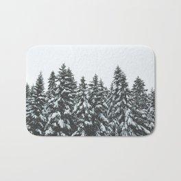 SNOWY TREETOPS Bath Mat