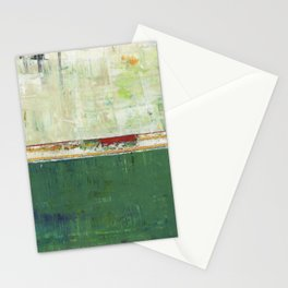 Limerick Irish Ireland Abstract Green Modern Art Landscape Stationery Cards
