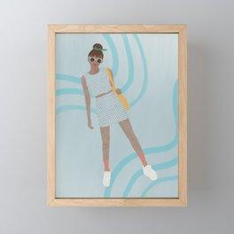 Blue Girl Framed Mini Art Print