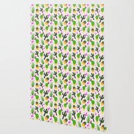 Cactus Pattern of Succulents Wallpaper