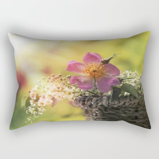 Lovely flowerbouquet in a special light- Rose Roses Rectangular Pillow