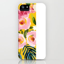 No Winter Lasts Forever; No Spring Skips It's Turn #painting #botanical iPhone Case