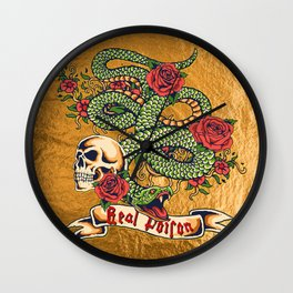 Real Poison Wall Clock