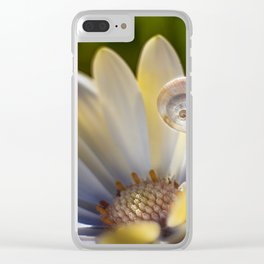 Snail in a Lilly Clear iPhone Case