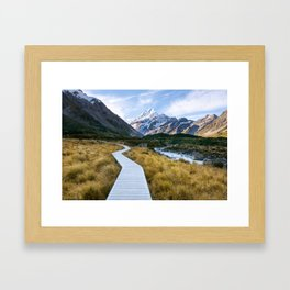 Mt.Cook New Zealand - A hikers dream Framed Art Print